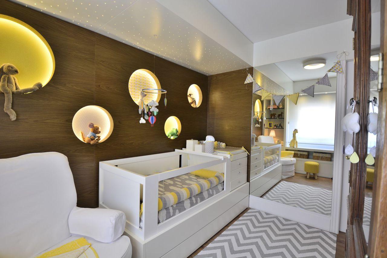 Excepcional Quarto Bebê Cinza e Amarelo com Tapete Chevron de BG Arquitetura  EZ47