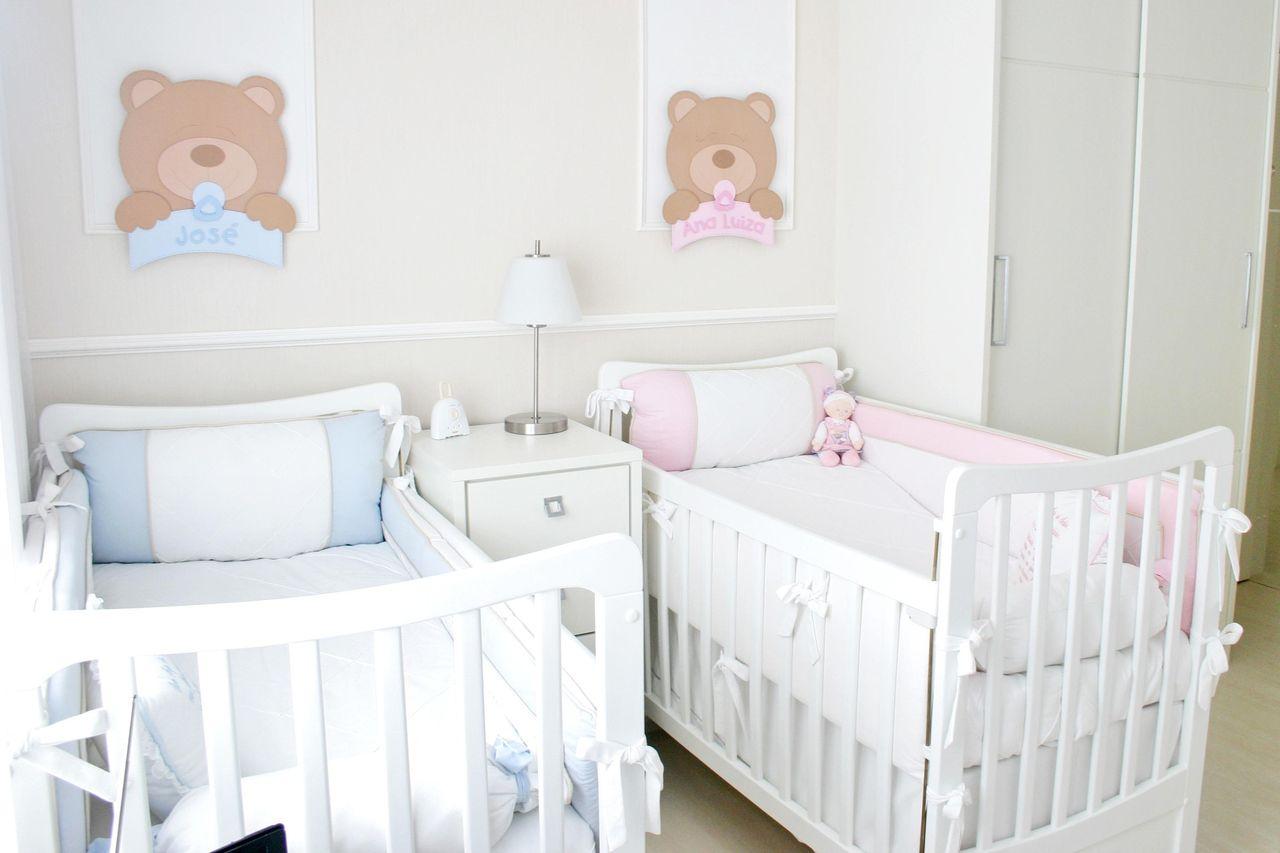 Quarto Unissex Com Decora O De Ursos E Cores Clar De Leiza Veiga  ~ Decoração De Quarto De Menina Bebê