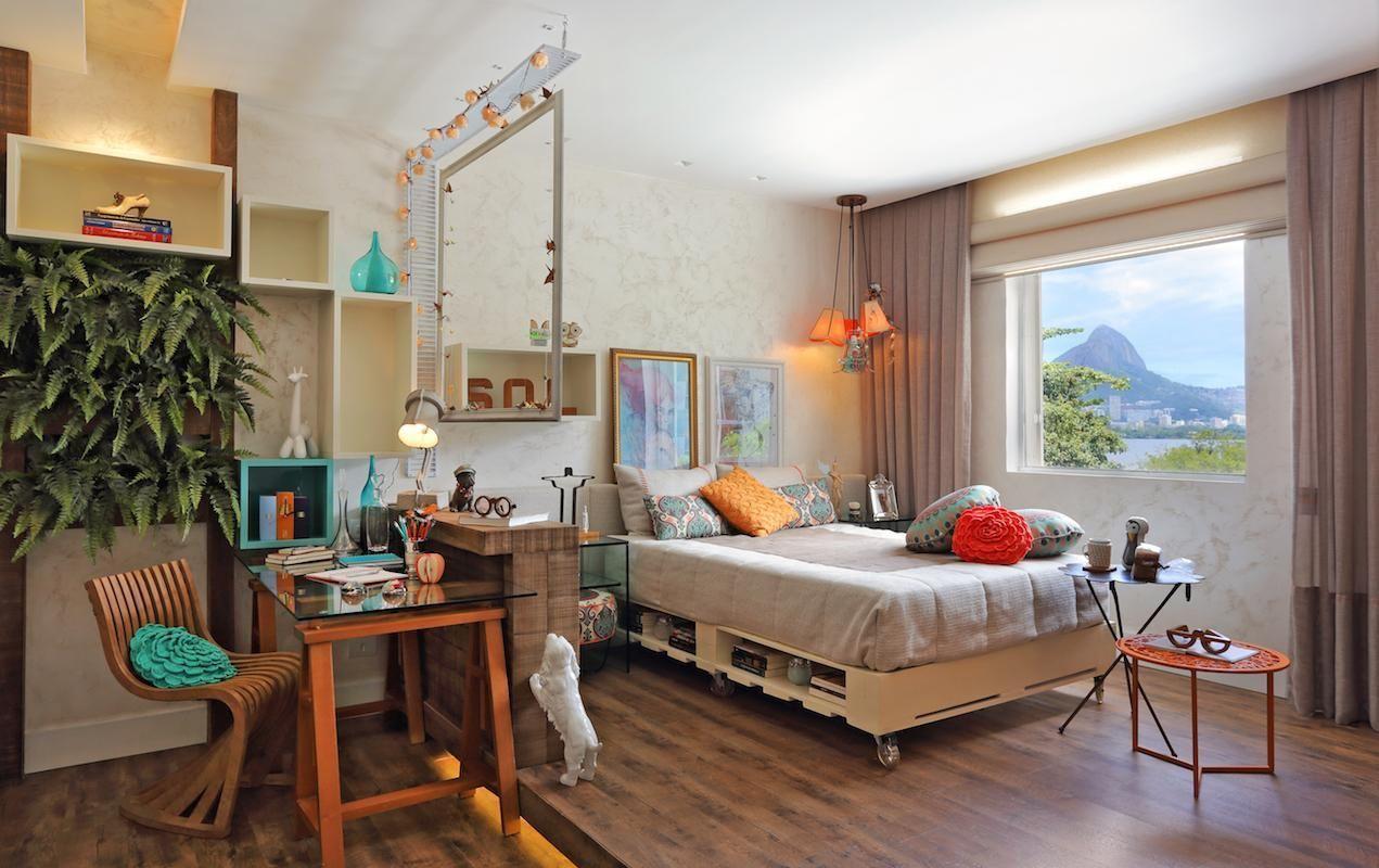 Cama De Paletes De Rbp Arquitetura E Interiores 71865 No Viva Decora ~ Moveis Quarto Casal Modernos E Paletes Decoração Quarto