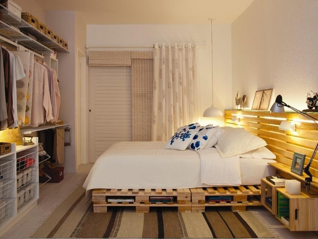 Cama De Pallet De Rani Victor 81470 No Viva Decora ~ Moveis Quarto Casal Modernos E Paletes Decoração Quarto