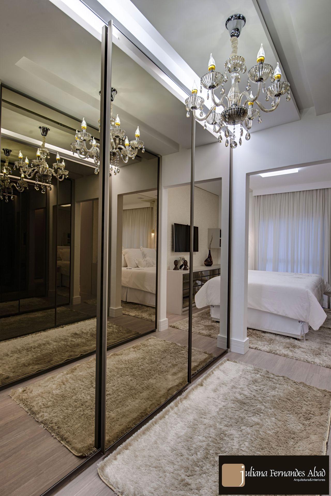 Closet Com Porta Em Espelho Bronze De Juliana Abad 139513 No  ~ Espelho Bronze Em Quarto De Casal