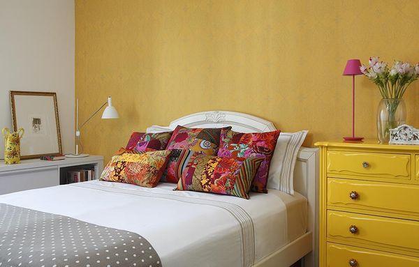 decoração cores de parede quentes - cores de tintas