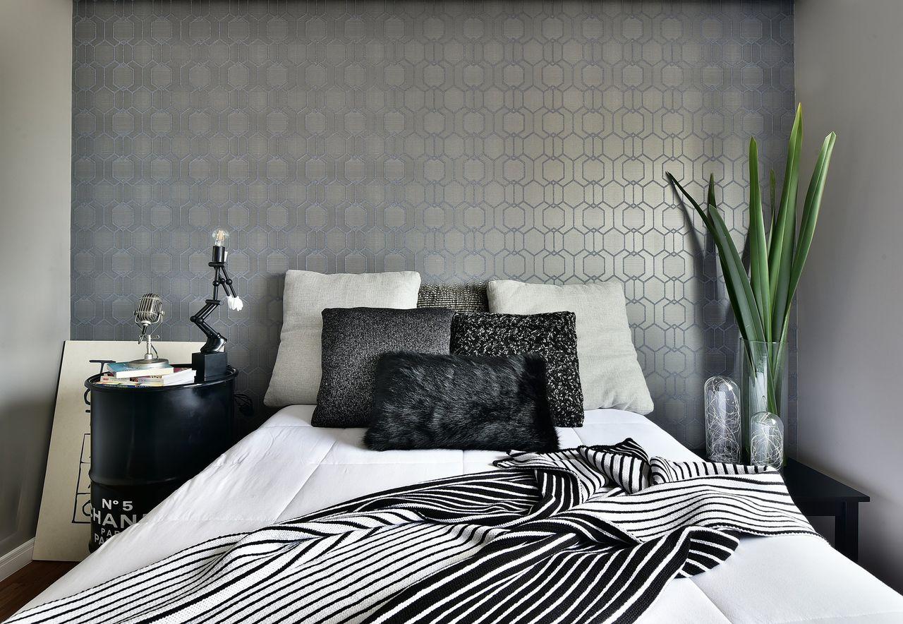 Como decorar quarto casal moderno - Papel de pared moderno ...