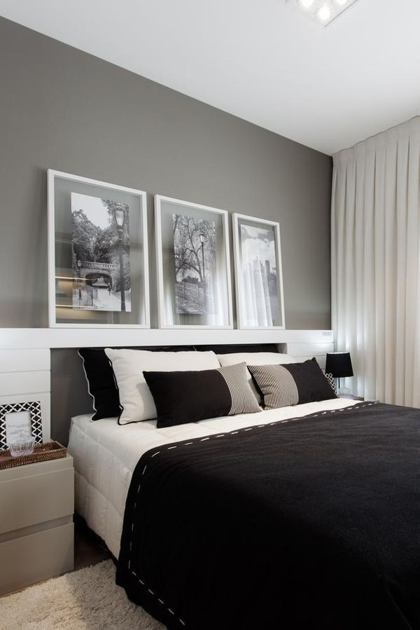 Decoração de Quarto cama preta