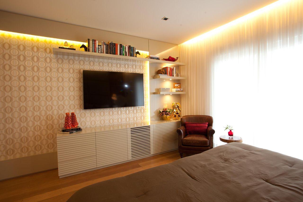Quarto De Casal De Studio Novak 3397 No Viva Decora ~ Decoração De Quarto Pequeno Com Tv