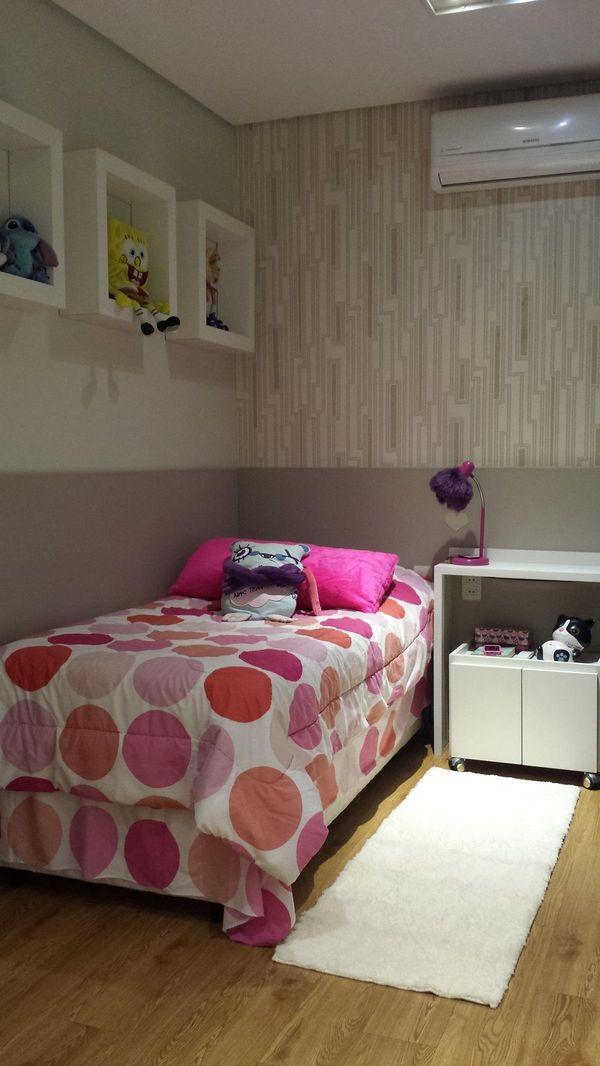 Outubro rosa  quarto menina cama