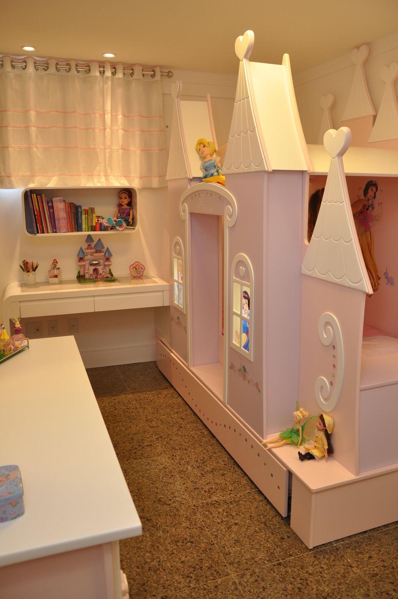 Quarto Infantil Com Castelo As Princesas De Nicolle Do Vale