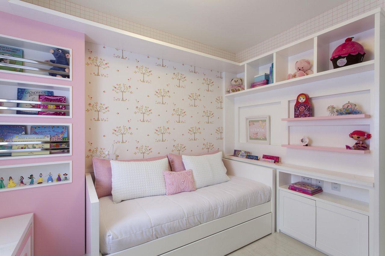 Quarto Rosa Com Miniatura De Bonecas Princesa De Ark2 Arquitetura  ~ Decoração Quarto Infantil Princesas