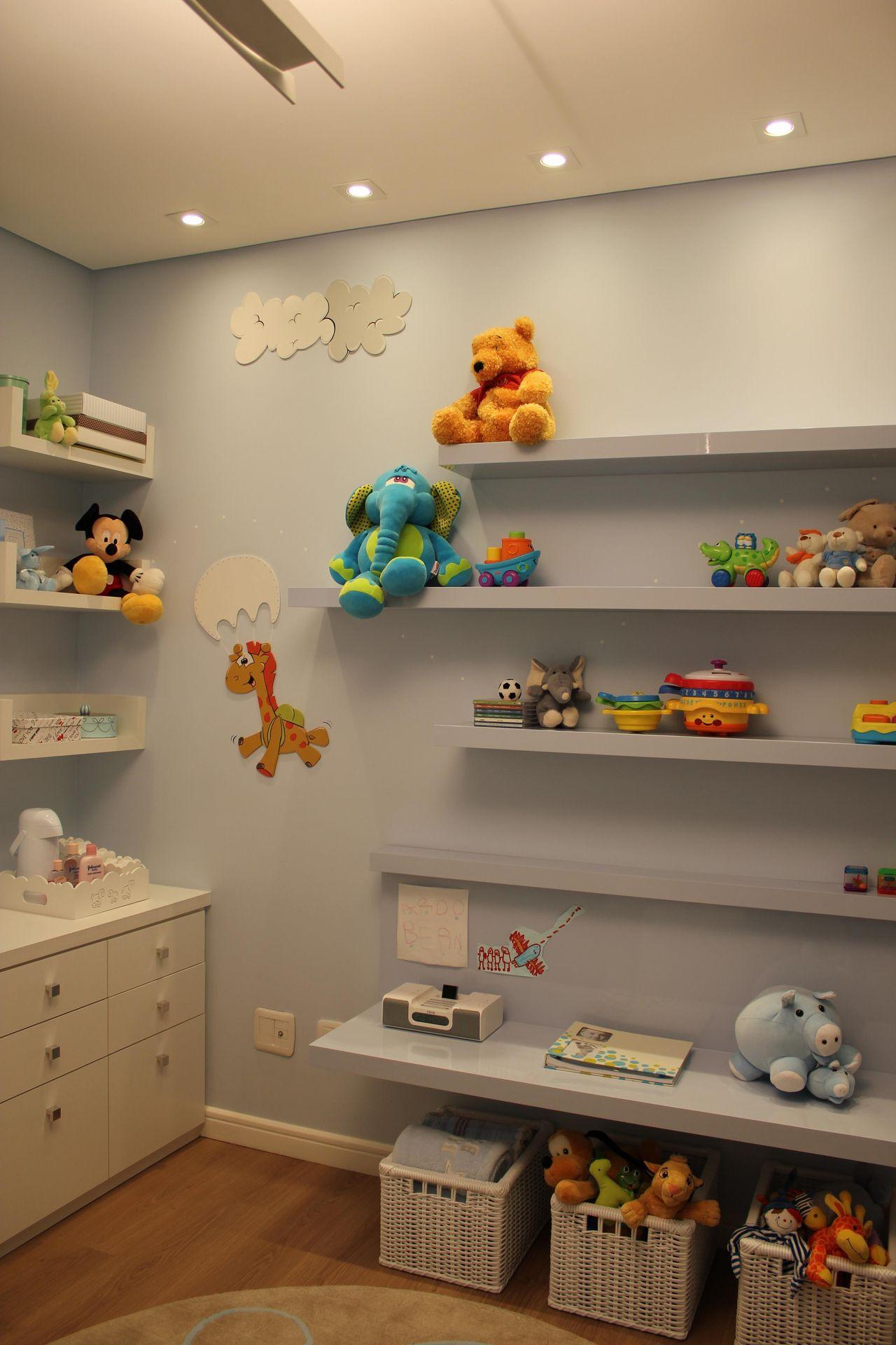 Prateleiras Para Brinquedos Em Quarto De Helaine Goes Pinterich  ~ Designer De Interiores Quarto E Prateleiras Quarto Menino