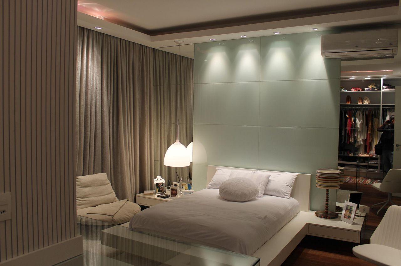 Quarto com cama japonesa e ilumina o com spots de herbert - Cama japonesa tatami ...