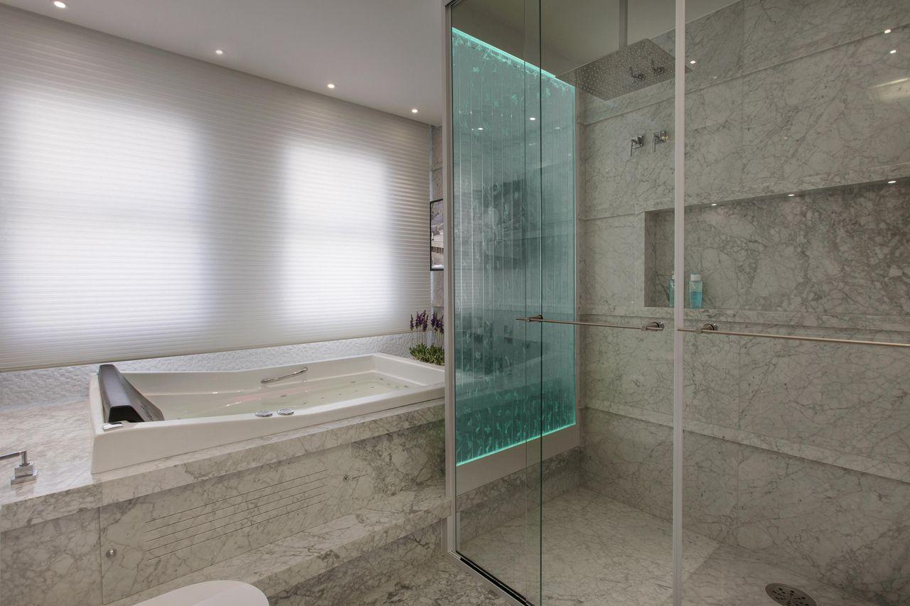 98 Banheiros Decorados Com Efici Ncia E Cuidado ~ Espelho Grande Para Quarto Barato