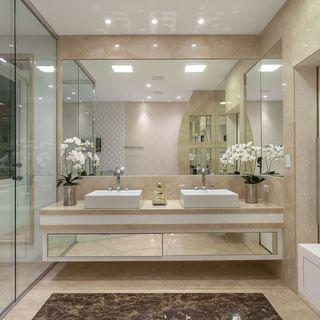 Banheiro Simples Grande Decoração 100 Fotos Dicas E