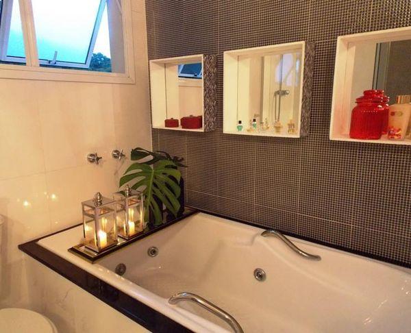 como decorar um banheiro - nicho embutido