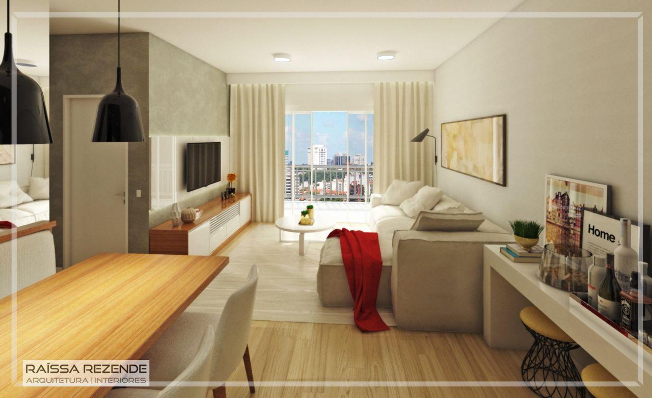 Sala De Estar Em Tons Neutros Com Sof Em L De Raissa Rezende  -> Sala De Estar Apartamento Decoracao