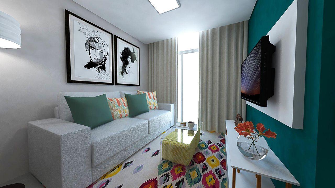 Sala Pequena Simples E Moderna Decoracin De Salas Pequeas  -> Decoracao De Sala De Estar Pequena E Barata