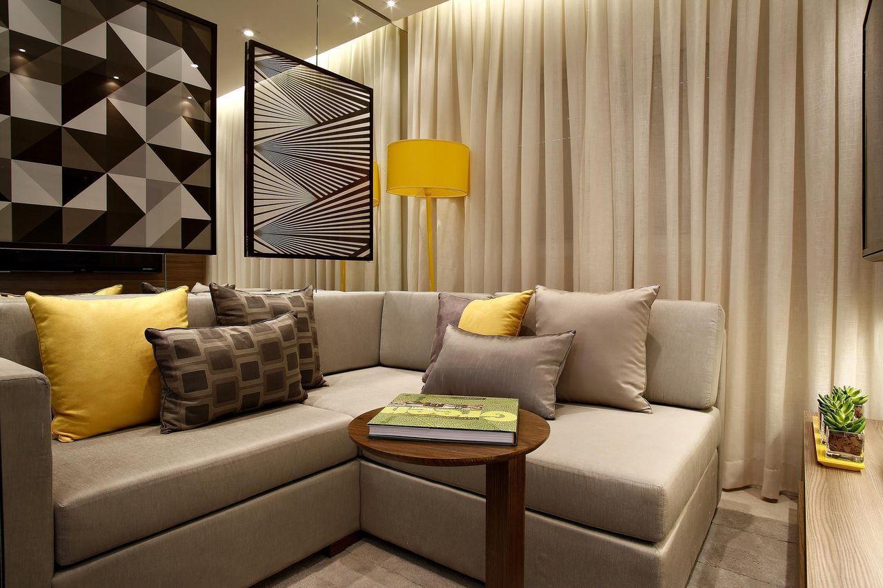 Quadros Para Sala 80 Exemplos Para Voc Se Inspirar -> Como Decorar Uma Sala De Estar Muito Pequena