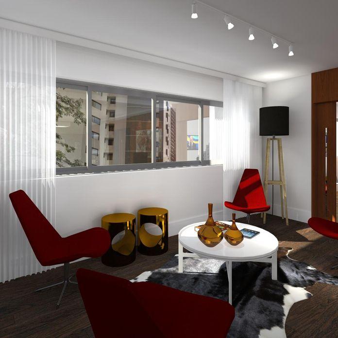 Sala de estar com abajur de piso de juliana lahoz 79829 - Piso para sala de estar ...