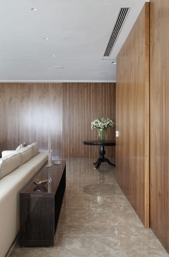 Aparador Turquesa ~ Sala de estar com aparador de Madeira de A1 Arquitetura 75504 no Viva Decora
