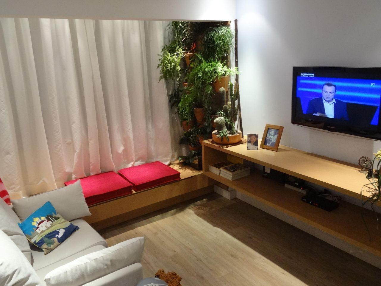 Decorao De Sala De Estar Pequena De Apartamento Altamente Fotos  -> Como Decorar Uma Sala De Estar Muito Pequena