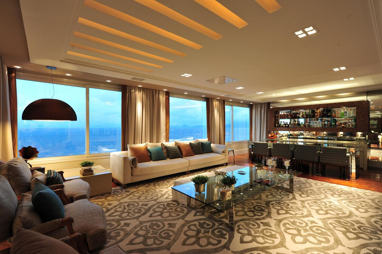 #474315 Bar Sala De Estar. Mvel Bar Canto U Cm. Sala De Estar Grande Luxo Moderno Apartamento Com  1280x851 píxeis em Bar Pequeno Para Sala De Estar Moderno