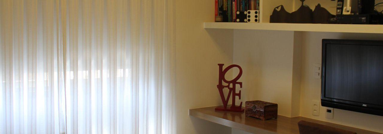 Cortinas Para Sala De Estar Branca ~ Sala de estar com cortina Branca de Paula Müller  73948 no Viva