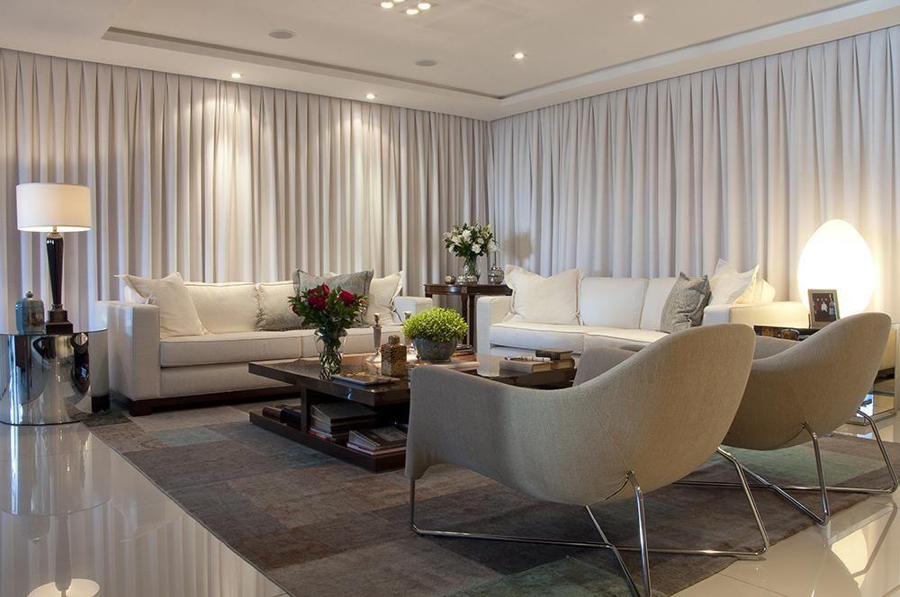 Sala de estar com cortinas de anne b ril 23091 no viva for Cortinas para sala de estar