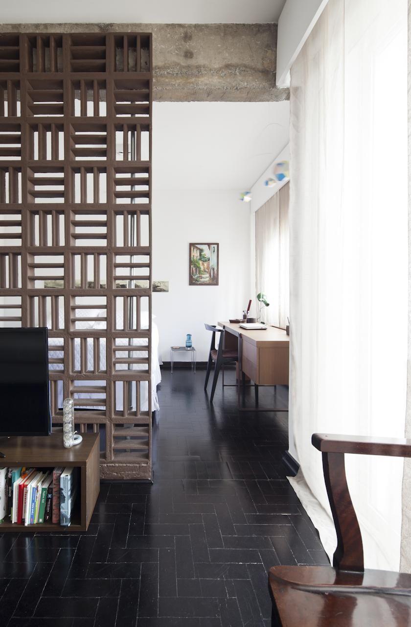 Sala De Estar Com Divis Ria De Ambiente De Filipe Ramos 72949 No  ~ Divisoria Para Cozinha E Sala