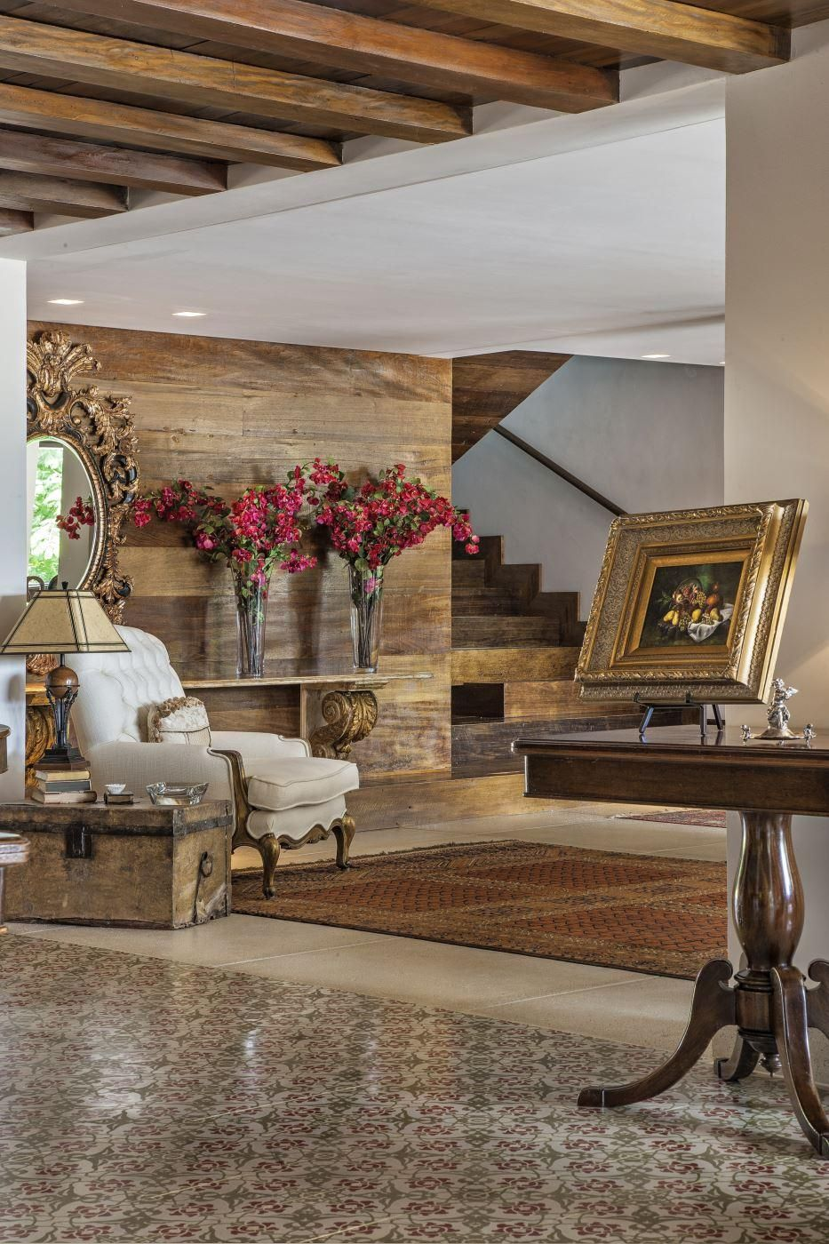 Sala de estar com estilo r stico moderno de gislene lopes for Sala de estar estilo rustico