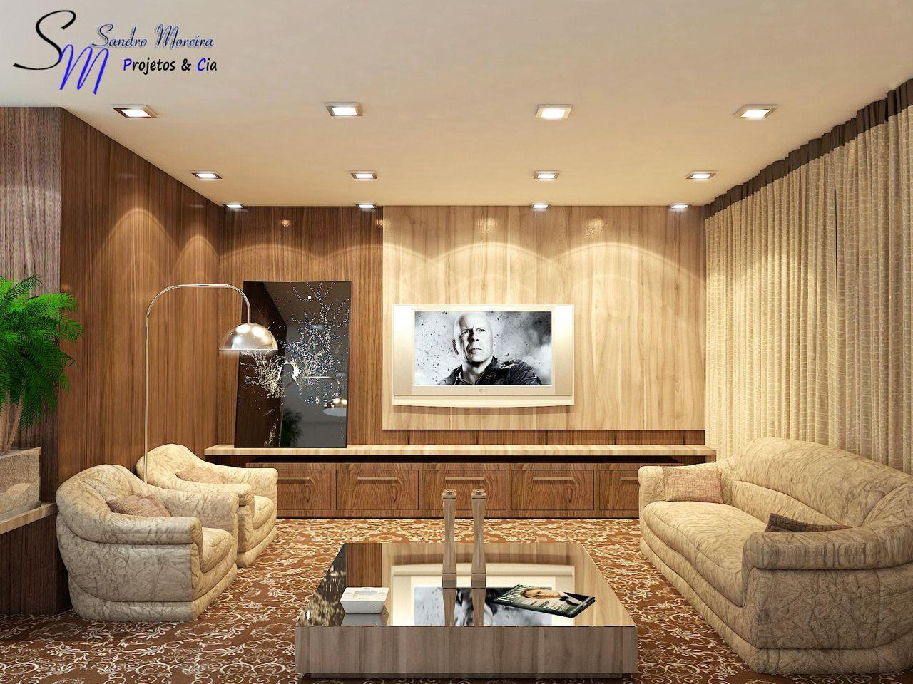 Sala De Estar Com Ilumina O Em Spot De Sandro Moreira 47057 No  -> Spot De Parede Para Sala