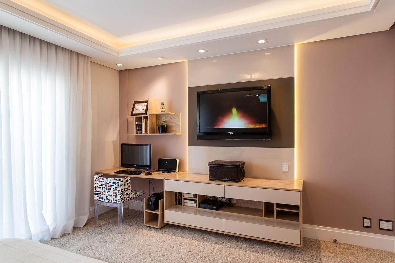 Sala Com Painel Para Tv Imagem With Sala Com Painel Para Tv Outra  -> Painel De Sala Com Ceramica