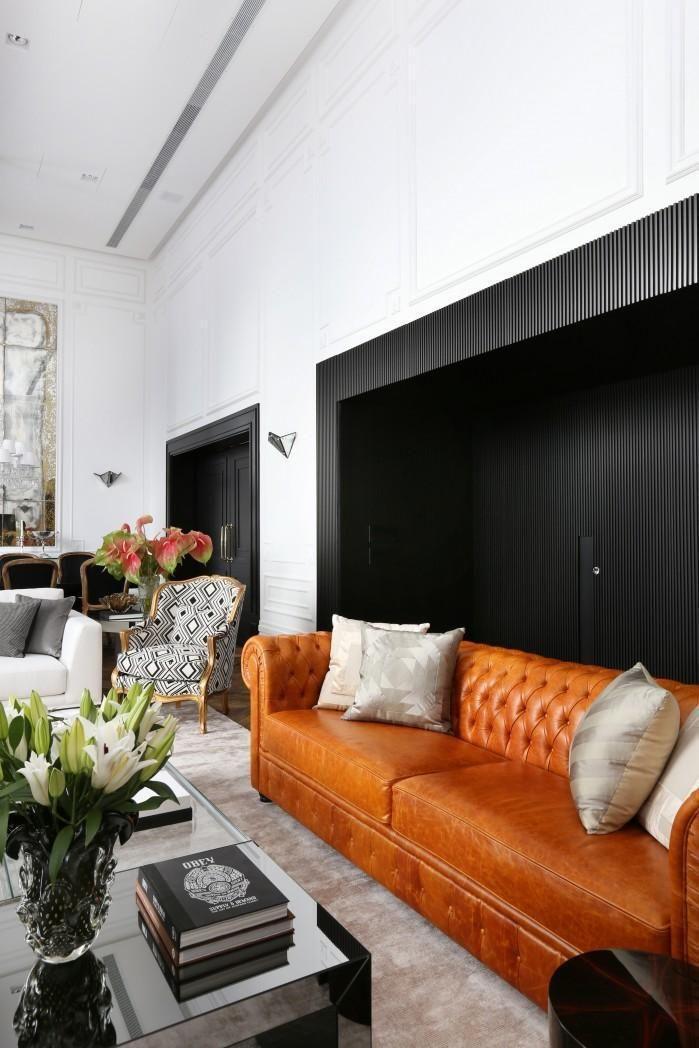 Sala de estar com parede Preta de Mauricio Karam - 65813 no Viva ...