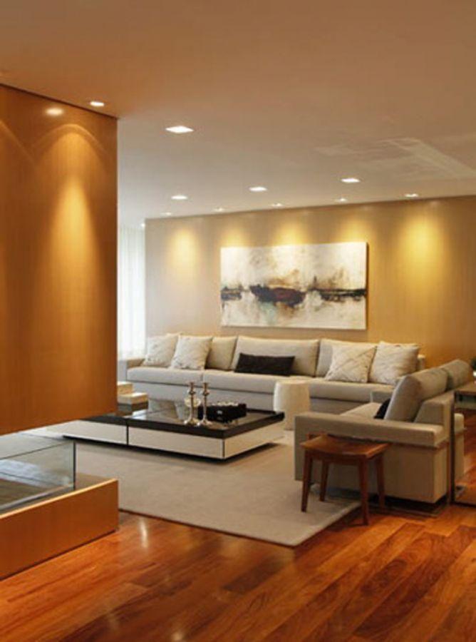 Sala de estar com piso de taco de a1 arquitetura 75852 - Piso para sala de estar ...