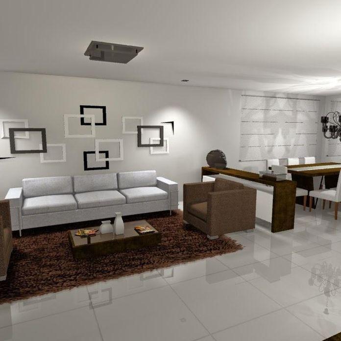 Sala de estar com quadro decorativo de helora schlegel for Sala de estar quadro