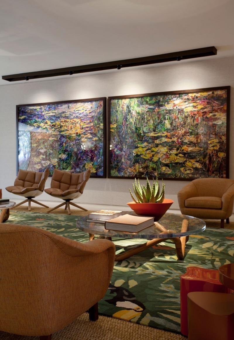 Quadro Grande Sala De Estar ~ decoração sala sala de estar sala de estar com quadro grande