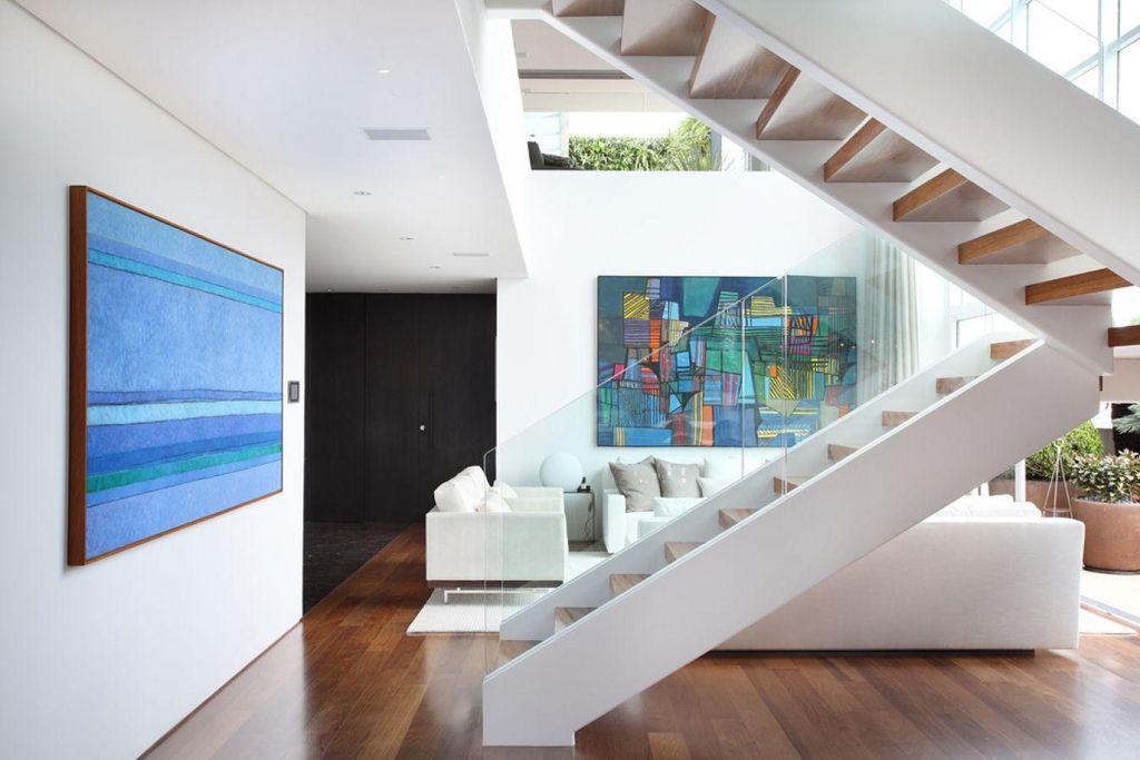 Sala De Estar Com Azul ~ Sala de estar com quadros Azul de A1 Arquitetura  75682 no Viva