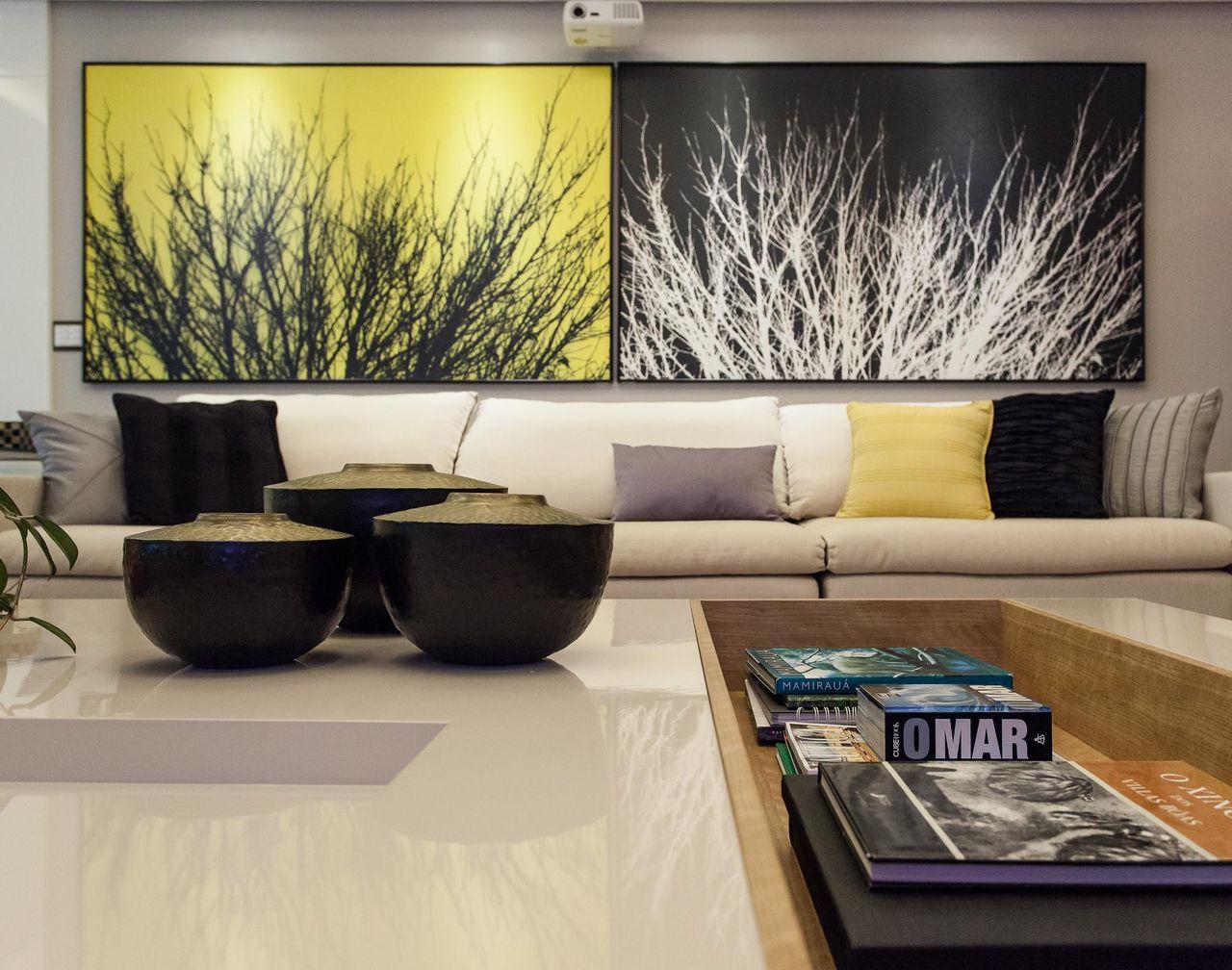 Decoracao sala grande decorao sala grande decorada for Decoracao sala de estar quadros