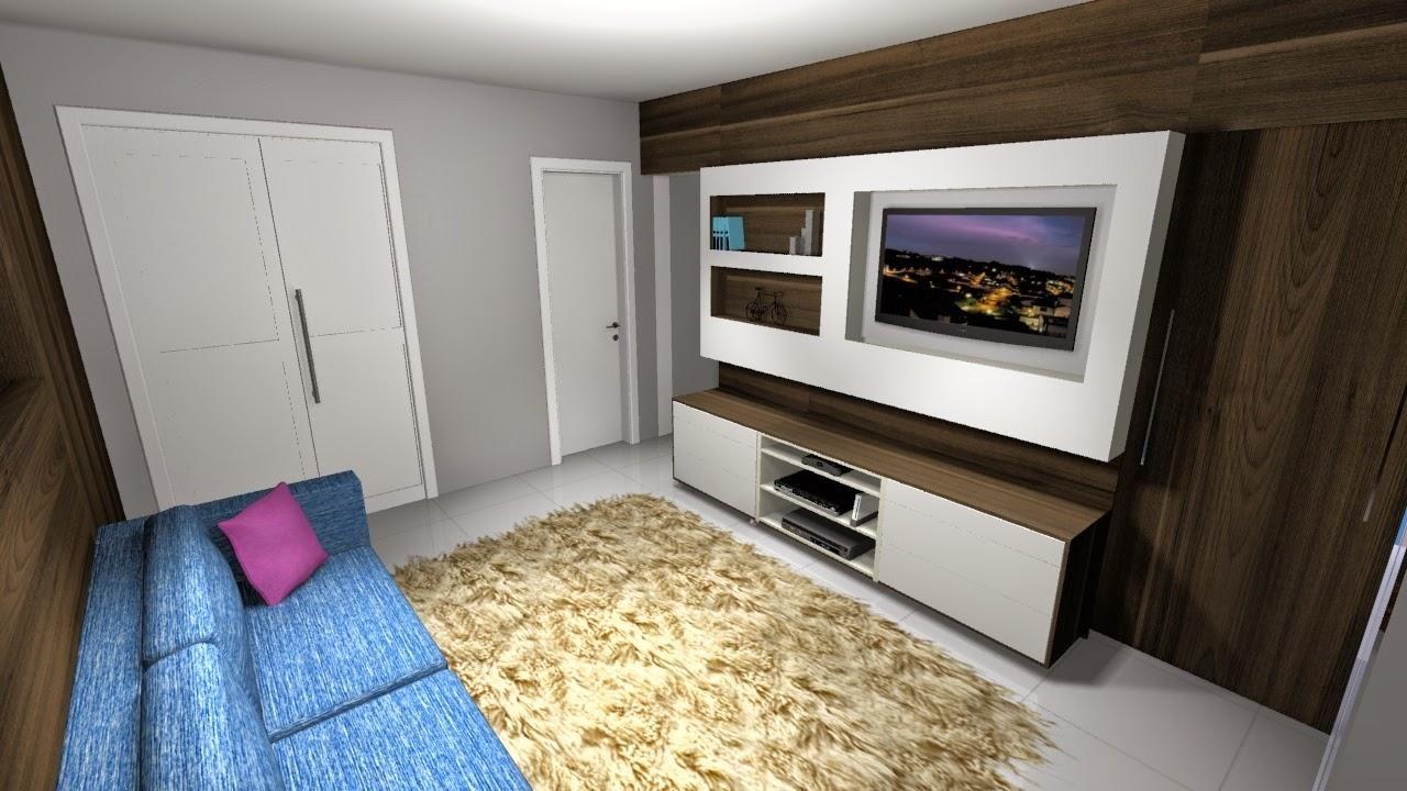 Sala De Estar Com Sof Azul De Helora Schlegel 65035 No Viva Decora -> Sala De Estar Pequena Azul