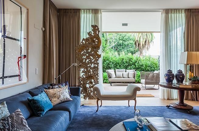 Populares Sala de estar com sofá Azul de Roberto Migotto - 89502 no Viva Decora UW49
