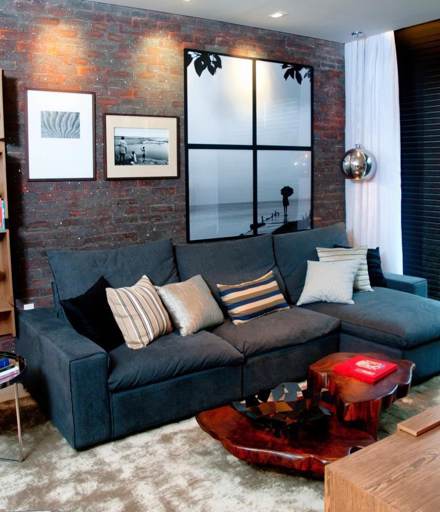 Decorao De Sala Azul O Azul Na Decorao Decorao De Sala Azul Sala  -> Decoracao De Sala De Tv Com Sofa Azul