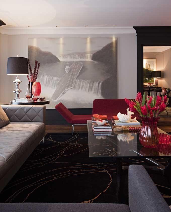 Tapetes para sala de estar com sof cinza for Tapetes para sala de estar 150x200