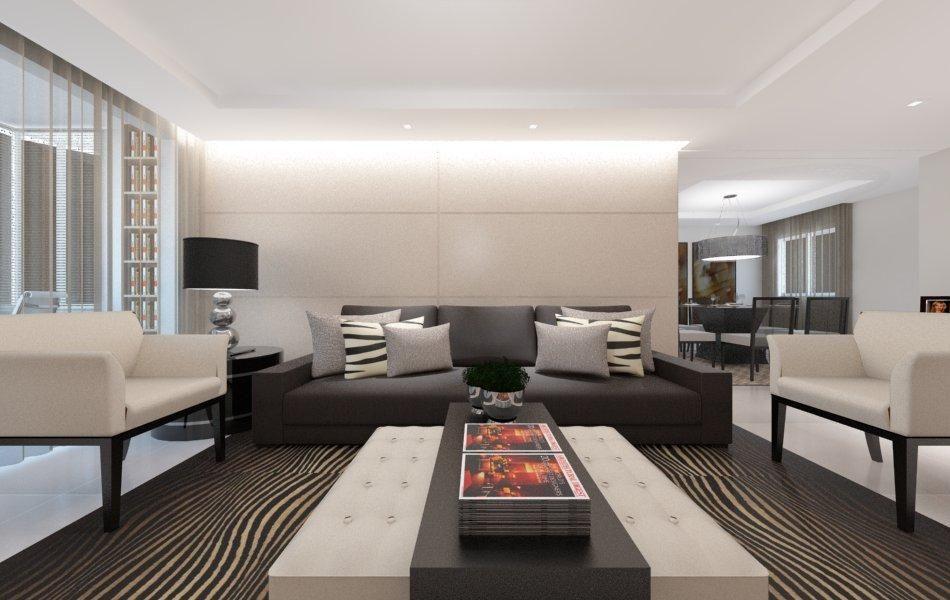 Hd wallpapers sala de estar decorada sofa preto wallpaper for Wallpaper sala de estar