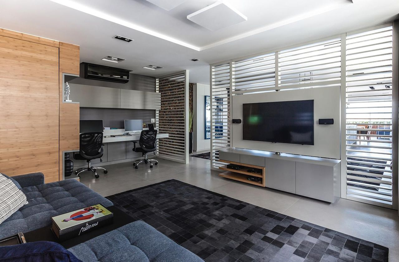 tapete sala sofa escuro inspira o de design para sua casa. Black Bedroom Furniture Sets. Home Design Ideas