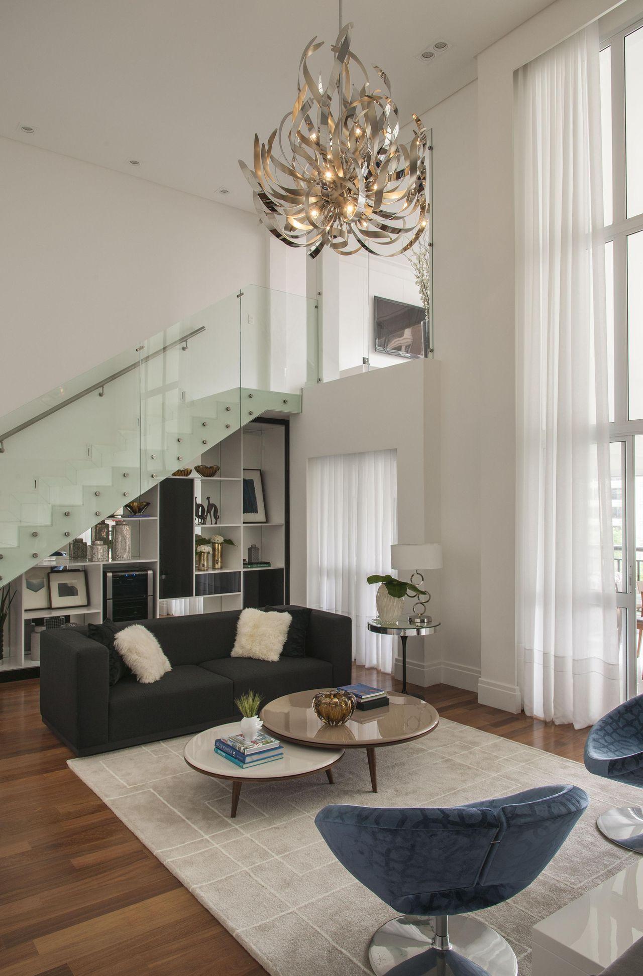 Excepcional Escada corrimão de inox fechado com vidro Trasnpar de Érica  XE41