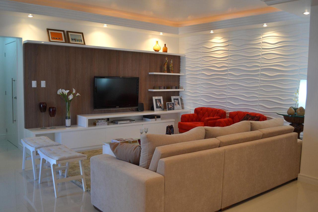 Estante Planejada Com Prateleiras De Elo Arquitetura Engenharia  -> Ver Sala Planejada