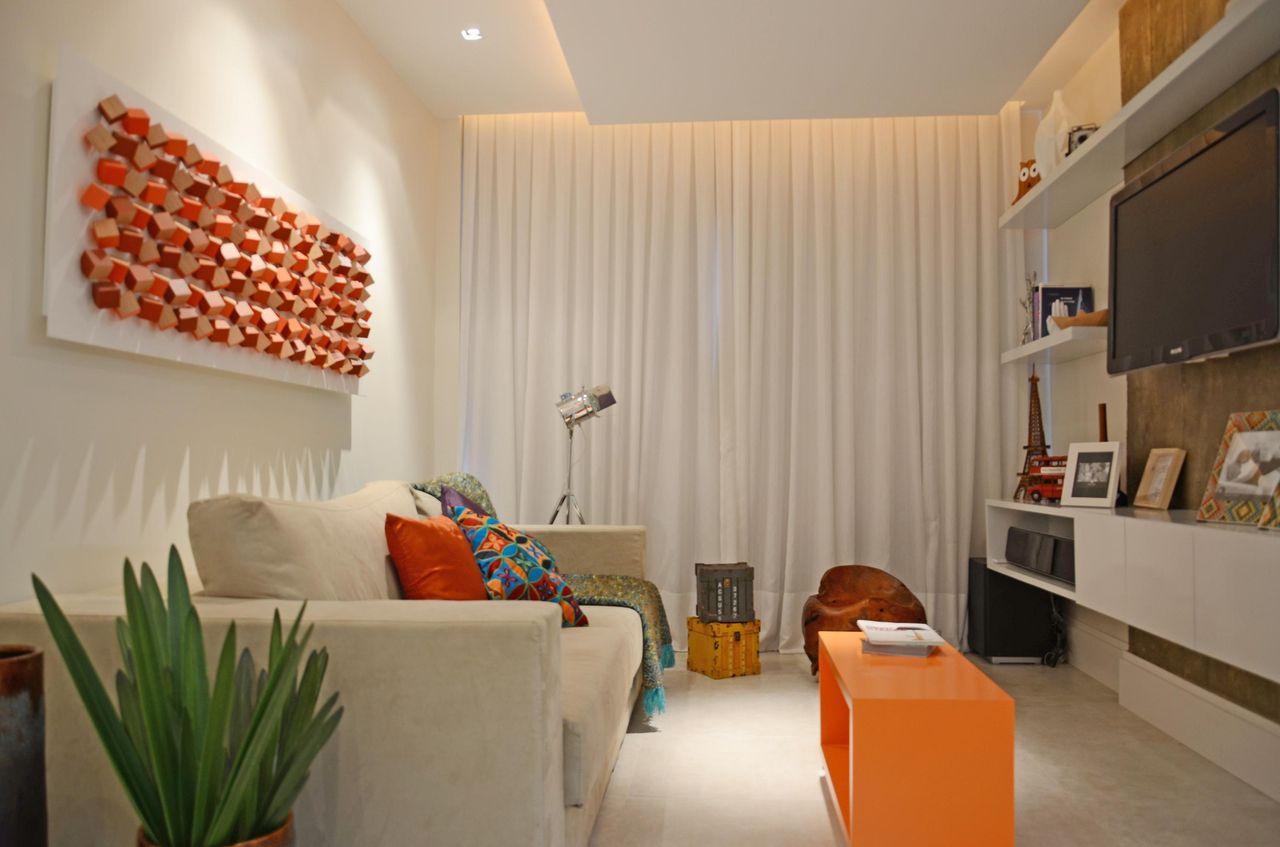 Decoração de sala pequena bem iluminado