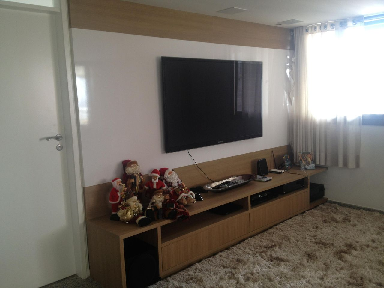 Home Theater Com Enfeite De Natal De Amaury Junior 17353 No Viva