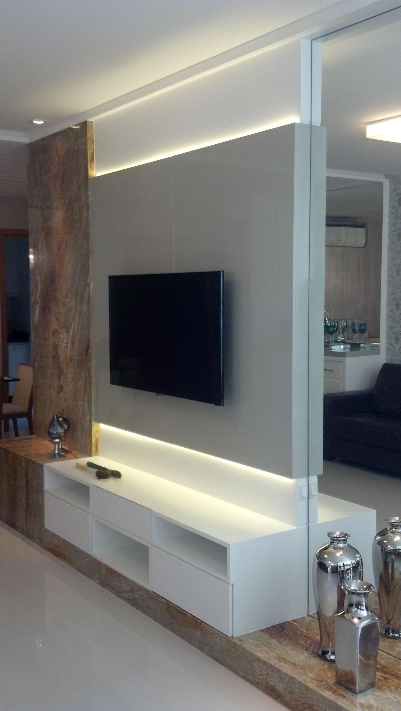 Extremamente Home Theater com painel de led de CS Projetos Decoração de  MJ54