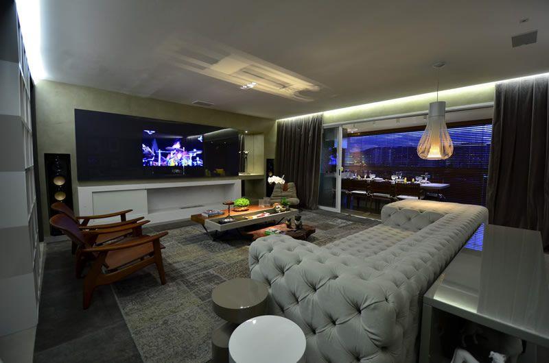 Muito home theater moderno para sala pi94 ivango - Sala home theatre ...