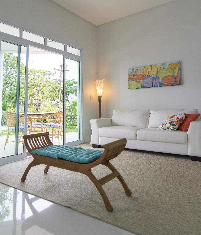 Living Da Casa De Praia De Of Cio Da Arte 115908 No Viva Decora -> Decoracao Sala De Artes