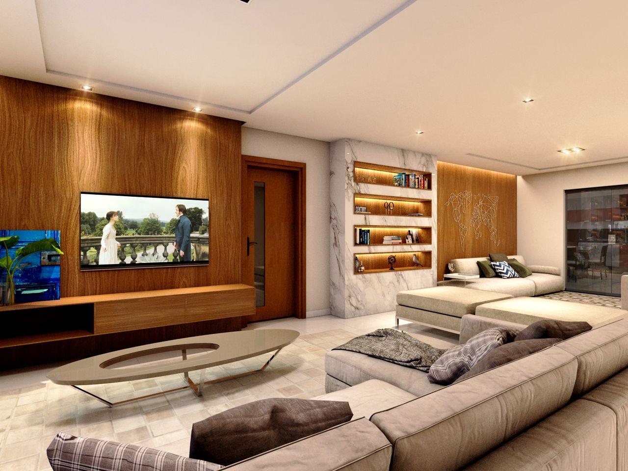 Sala De Tv Moderna E Simples.Sala De Tv Moderna Com Mesa De Centro Oval De Studio Nuvola